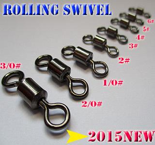 2015new font b fishing b font rolling swivels size 6 3 0 high carbon steel quantity