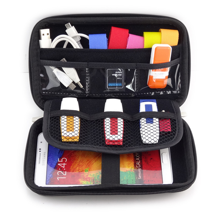Free shipping 2 5 Bag Case for External Hard Drive Disk Electronics Cable Organizer Bag Camera
