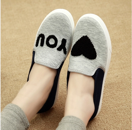 2014 female canvas shoes breathable shoes lazy low flat casual shoes cotton-made women's shoes single shoes