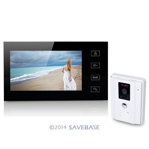 HOMSECUR 7 Inch Wired Video Door Phone Audio Visual Intercom System 1V1 For Villa House(China (Mainland))