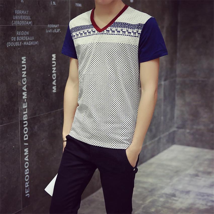 T Shirt Men 2016 New Arrival Summer Male Fashion Printed Cotton T-Shirt Casual High Quality Short Sleeve T Shirts M-5XL(China (Mainland))