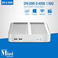 Partaker Desktop mini computer Fanless core i3 Mini PC with usb 3 0 hdmi vga Windows