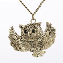 Buy New Vintage Charm Women Girls Fashion Style Bronze Owl Long Chain Statement Necklace Pendant Jewelry for $1.16 in AliExpress store