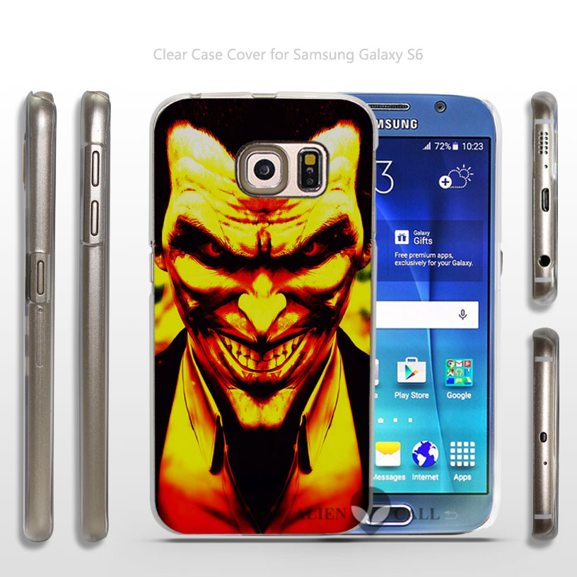 dark knight joker va batman Hard Transparent Clear Case Cover for Samsung Galaxy s3 s4 mini s5 s6 dege plus(China (Mainland))