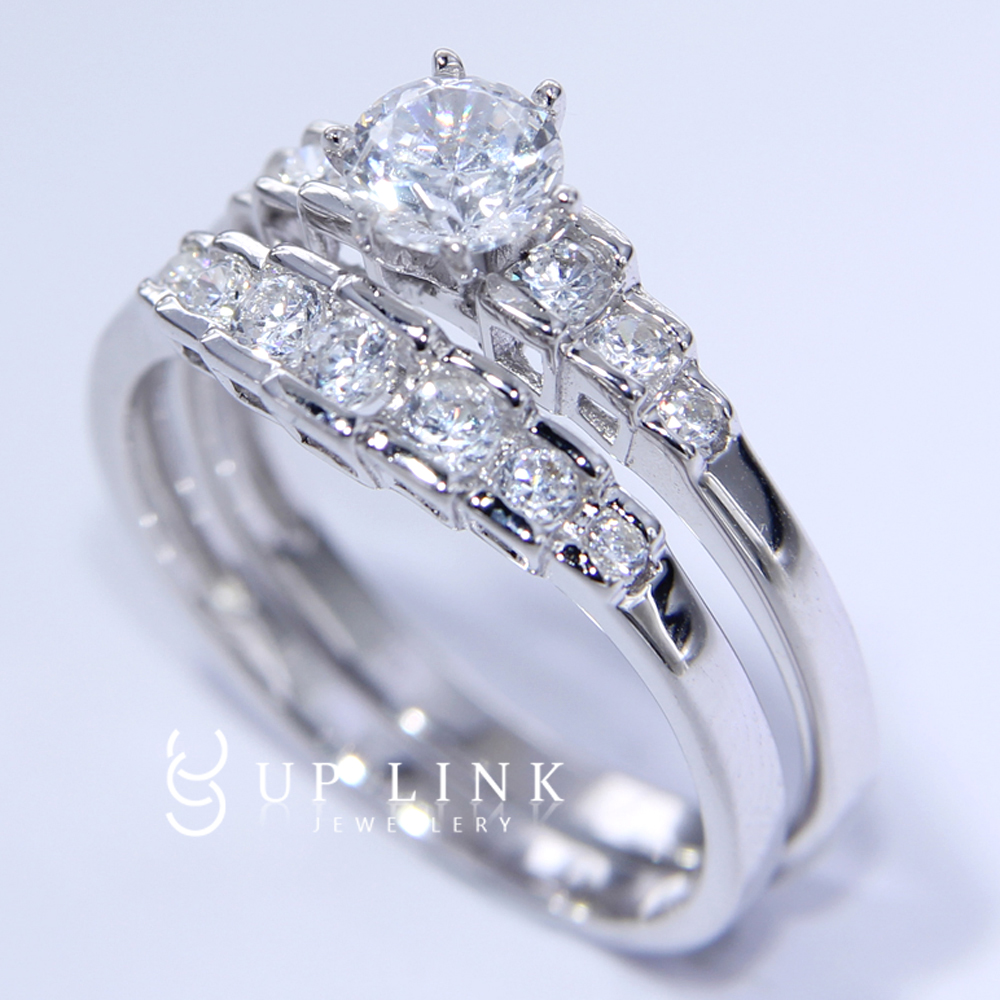 1 89ct white cz sapphire 925 sterling silver engagement