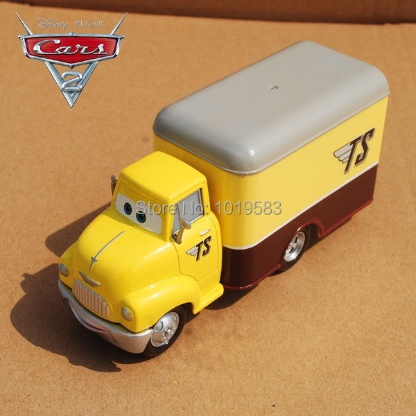 Brand New Original 1/55 Scale Disn*y Pixar Cars 2 Diecast Metal Toys Dustin Mellows Mega Deluxe Box Truck Alloy Car Toy Loose(China (Mainland))