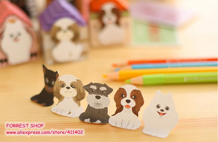 [FORREST SHOP] Kawaii Sticky Notes / Dog Cat Post It Notes Bookmark / Cute Memo Pad / Index Tabs Stickers (40 Set/Lot) UP-8586