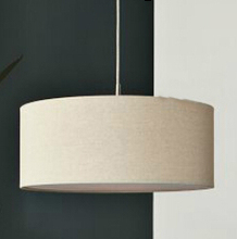 Modern Cloth Pendant light With White Round Fabric Lamp Shade In 3 Source Light Fixtures 110V 220V(China (Mainland))