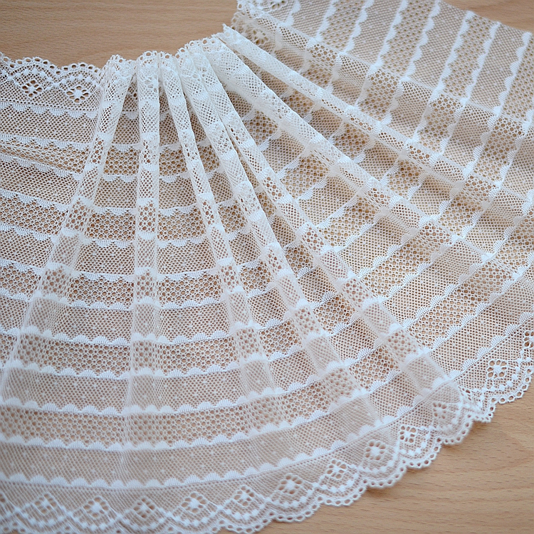 Bilateral elastic lace trim DIY garment accessories lace fabric Exquisite Venise Lace Trim 24.5cm Width