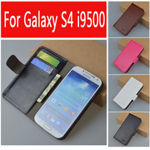 Buy Leather case Samsung Galaxy S4 i9500 GT-i9500 GT-i9505 i9505 i9506 flip cover case GT 9500 / 9505 phone cases covers for $6.42 in AliExpress store