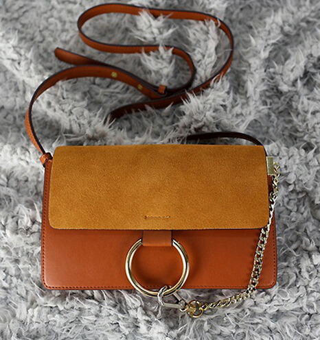 2015 Faye Large Cross Body Bags Circle Ring Genunine Leather Suede Vintage Fashion Women Casual Flap Shoulder Messenger Bags<br><br>Aliexpress