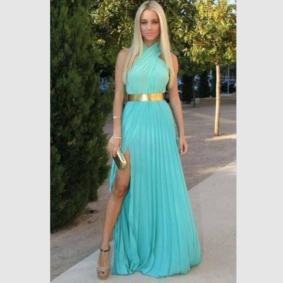 Online Get Cheap Turquoise Halter Dresses -Aliexpress.com ...