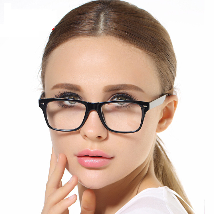 Quality Glass Classic and Simple Design TR 90 Eyeglasses Women Black Optical Glasses Frame(China (Mainland))