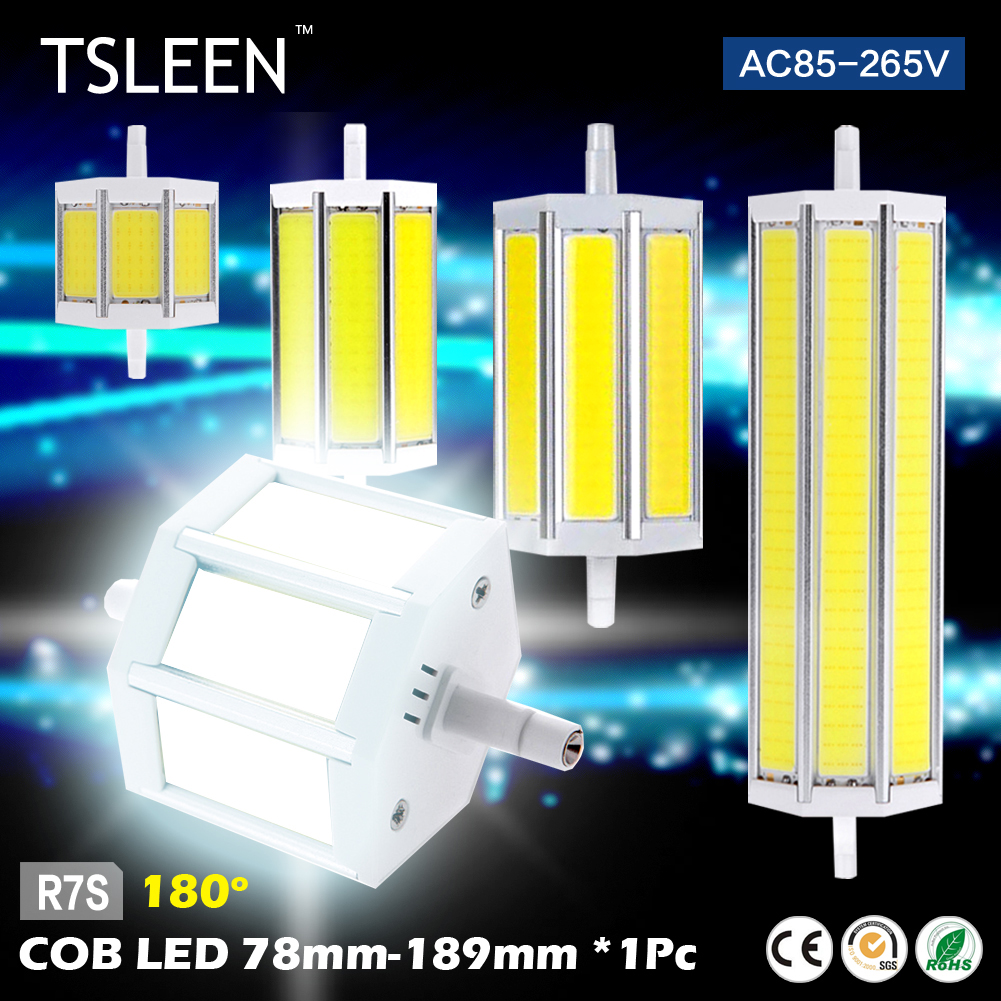 TSLEEN R7S 78/118/135/189mm COB LED Lamp Spot Bulb Building Halogen Floodlight Replace 9w 13w 15w 20w(China (Mainland))