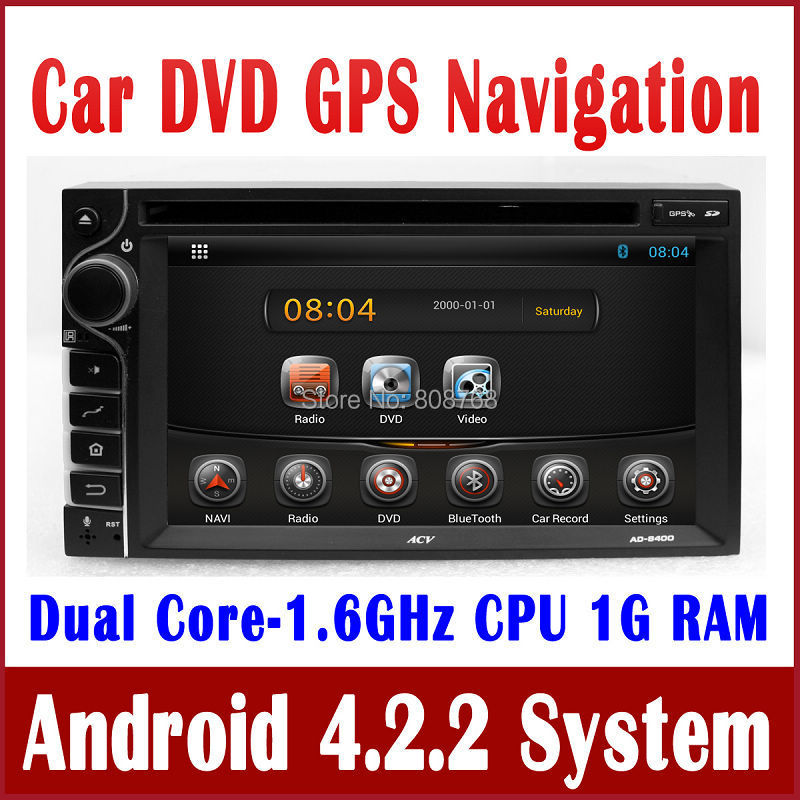"""6.2"""" Android 4.2 2-Din Universal Head Unit Car DVD Player with GPS Navigation Radio Bluetooth TV MP3 SD USB Audio Stereo 3G WIFI(China (Mainland))"""