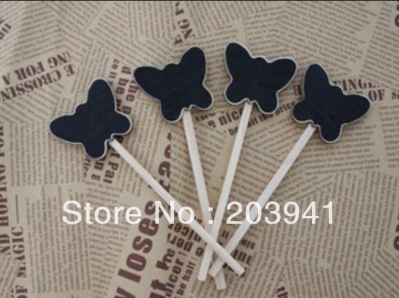 30X MINI Creative Butterfly Design CHALKBOARD SIGNS ON BAMBOO SKEWERS BRAND-NEW DIY Multifunction Wooden BLACKBOARDS/Wholesale<br><br>Aliexpress