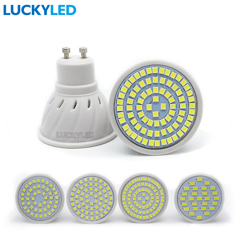 LUCKYLED Bombillas led 3W 4W 5W 6W AC 220V /110V SMD 2835 / 5730 LED Spotlight bulbs GU10 for home Energy Saving Lampada lamp(China (Mainland))