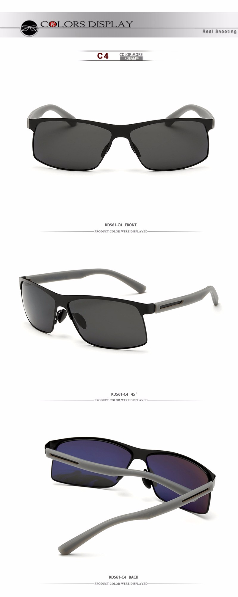 KDEAM Damen Herren Unisex Sonnenbrille KD0623