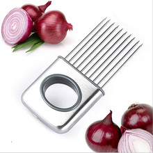 Onion Holder Slicer Vegetable Tools Tomato Cutter Meat Hamstring Fork Stainless Steel Kitchen Gadgets(China (Mainland))