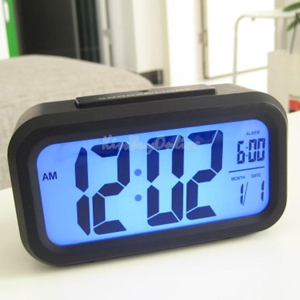 Digital Snooze Electronic Alarm Clock with LED Backlight Light Control PTSP(China (Mainland))