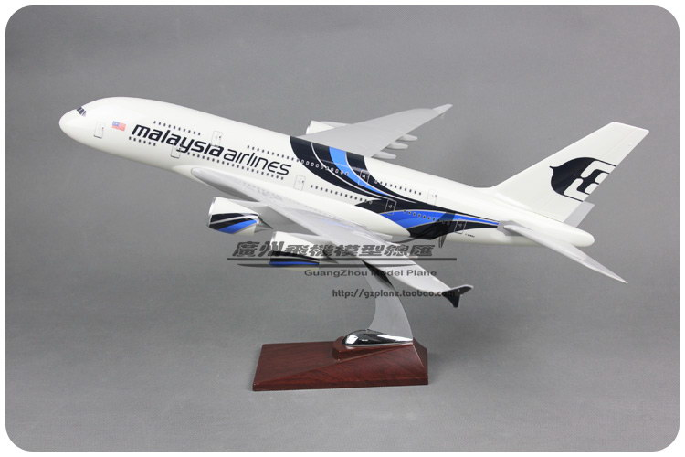 45cm Resin Air Malaysia Airlines Airbus A380 Airways Plane Model Airplane Model Toy Collections Decoration Gift(China (Mainland))