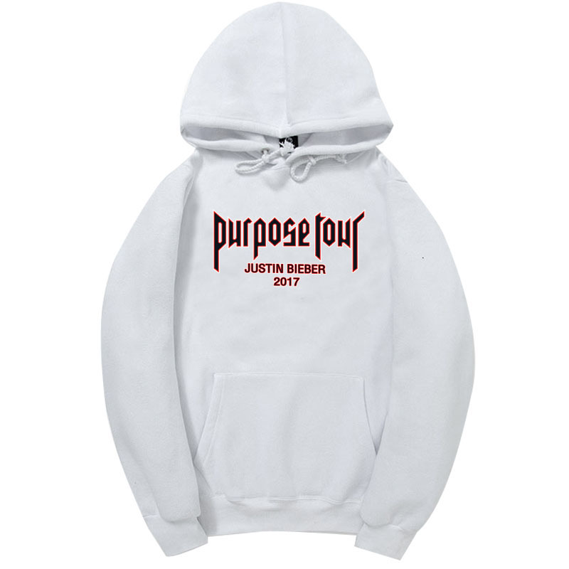 2017 Fashion PURPOSE TOUR Hooded Hoodies JUSTIN BIEBER Hoodies and Sweatshirts super star clothing Plus S-2XL(China (Mainland))