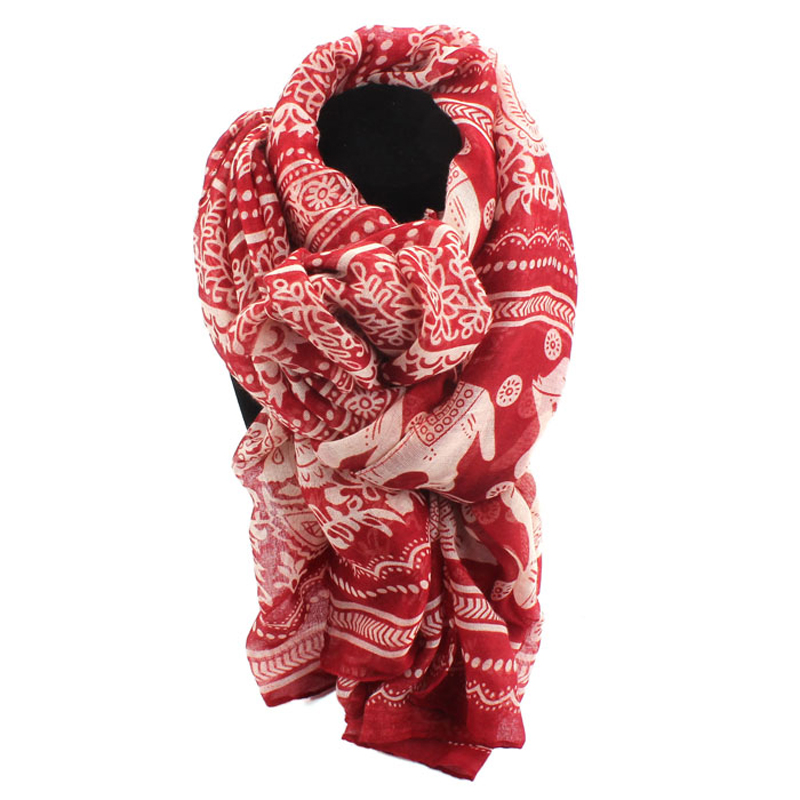 Feitong 180cm*90cm New Fashion Brand Autumn Ladies Neck Stole Elephant Printed Long Scarf Shawl Wrap Pashmina cachecol feminino(China (Mainland))