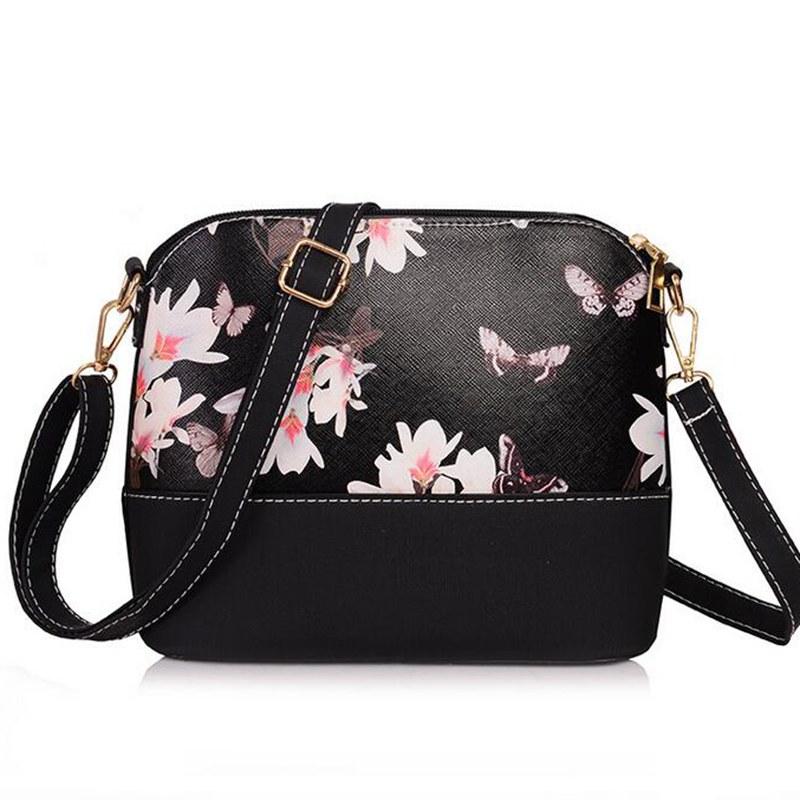 women bags women messenger bags bolsas womens flower print leather handbag brand high quality shoulder bag shell style QT289<br><br>Aliexpress