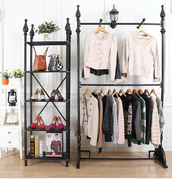 The new clothing store shelf continental shelf clothing store clothing racks for hanging clothes rack floor upscale(China (Mainland))
