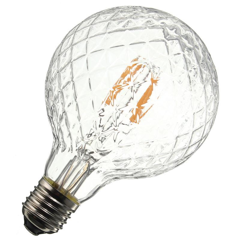 E27 4W Pineapple Ultra Bright COB LED Vintage Antique Filament Bulb Light Lamp Warm White 500Lumen Non Dimmable AC85-265V(China (Mainland))