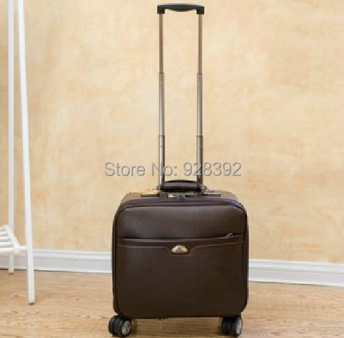 16 trolley luggage small general luggage travel bag leather bags box commercial(China (Mainland))