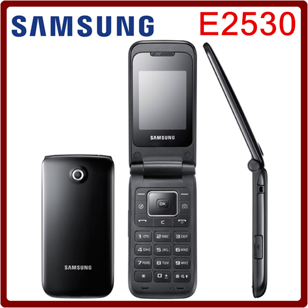 E2530 Original unlocked Samsung E2530 Mobile Phone 2inch FM Bluetooth JAVA Russian&Polish menu Support refurbished Free Shipping(China (Mainland))