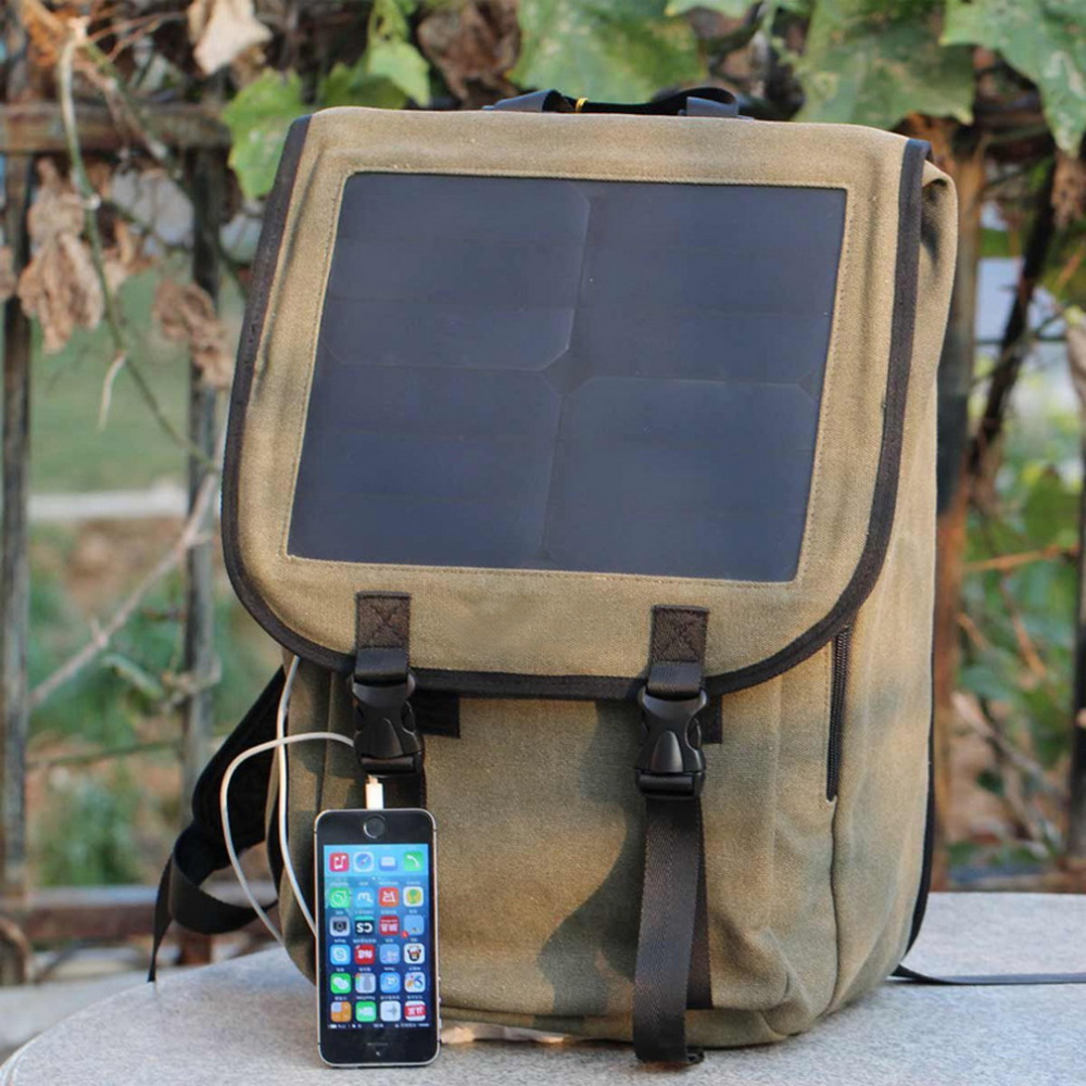 Business Solar Power Panel School Backpack Phone Laptop Tablet Charger<br><br>Aliexpress