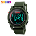Hot Selling Top Band SKMEI Big Dial Watch Men Military Led Simple Quartz Watches 5 Colors