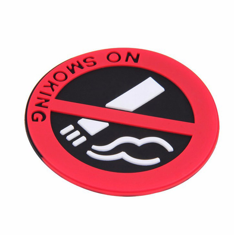 (3 Packed) 5cmx5cm Fashion NO SMOKING stickers car-styling car warming sticker for health care