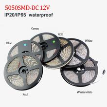 Buy DC 12V SMD5050 RGB Led Strip light IP20/IP65 Waterproof 5M 60Led/M Led Stripe Fita Led String Bar tape lamp Bombillas LedLight for $3.39 in AliExpress store