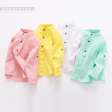 The boy long sleeved shirt 2016 children clothing new baby solid casual shirt collar children cotton shirt