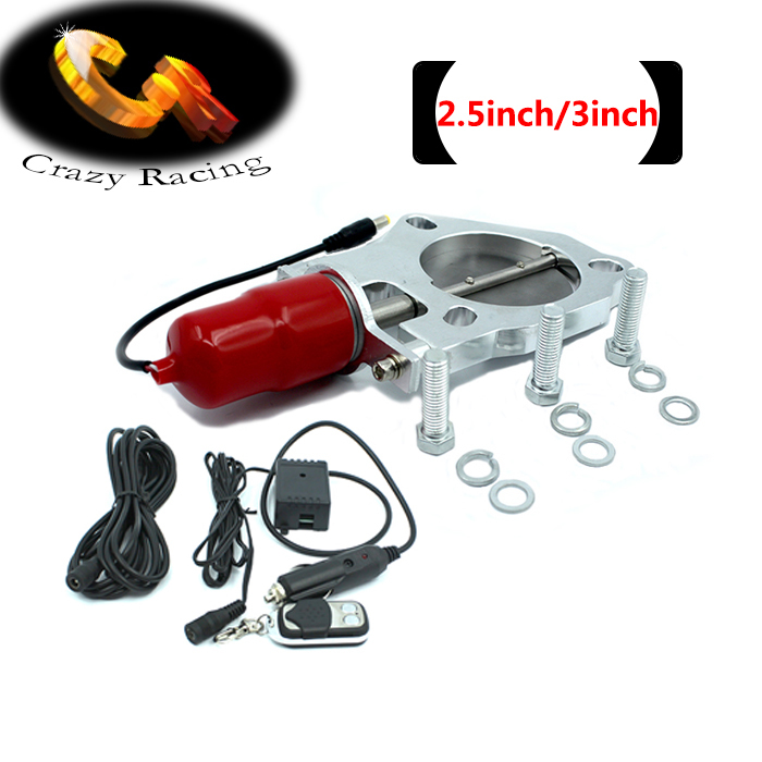 """Crazy Racing - 2.5"""" /3"""" universal Y pipe Electric Exhaust CutOut Kits Car Muffler Accessory(China (Mainland))"""
