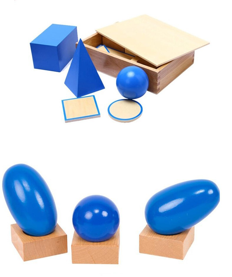 Newest 3D Montessori Geometric Solids Newest Quality Montessori Materials Educational Wooden Toy Free Shipping MNMA09H2<br><br>Aliexpress