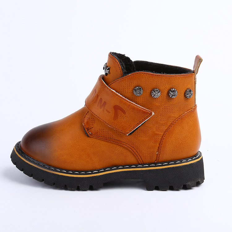 2015 new arrival winter children boots boys shoes fashion studded pu leather boys boots kids warm cotton boys martin boots<br><br>Aliexpress