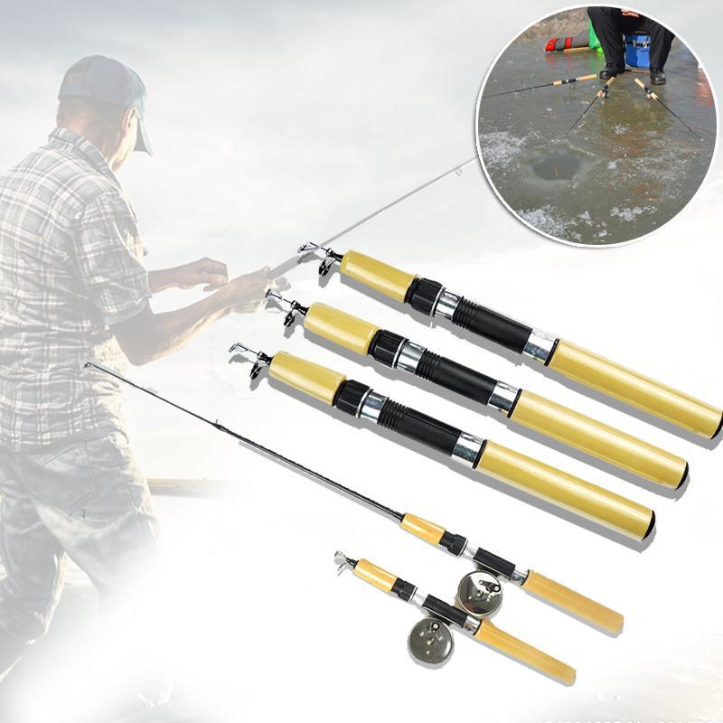 Winter Portable Ice Fishing Rod Pole Mini Rods Fishing Tackle valve Pole Sporting Goods New Novelty(China (Mainland))