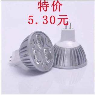 Mr16 led lamp cup low voltage 12v g5.3 mr16 3w 4wled energy saving bulb spotlights light source(China (Mainland))