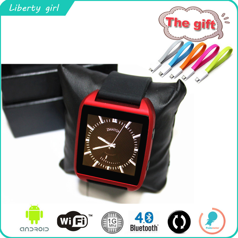 Z watch 256MB RAM 512MB ROM Waterproof Bluetooth4.0 support BLE TECH Capacitive Touch Screen WIFI Android 4.3 Smart Q Z Watch<br><br>Aliexpress
