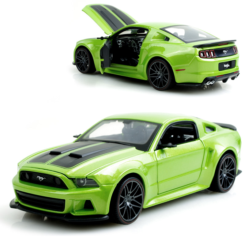 Mustang Green ALLOY 1:24  ALLOY CAR MODEL TOY VEHICLE  CAR MODEL ALLOY MODEL Toys gift toy car<br><br>Aliexpress