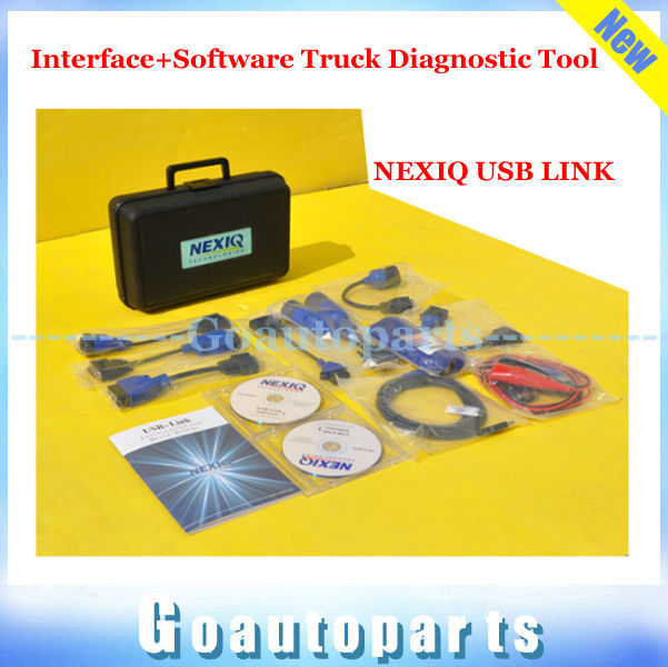 DHL free shipping 2015 NEXIQ 125032 USB Link + Software Diesel Truck Diagnose Interface and Software NEXIQ Truck Diagnostic Tool(China (Mainland))