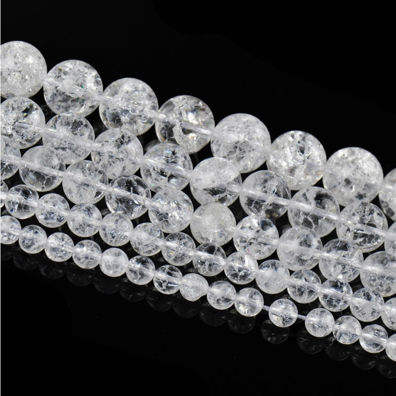 wholesale 4mm 6mm 8mm 10mm 12mm Natural White Cracked Crystal Round Beads 15.5inch/strand Pick Size Free Shipping(China (Mainland))