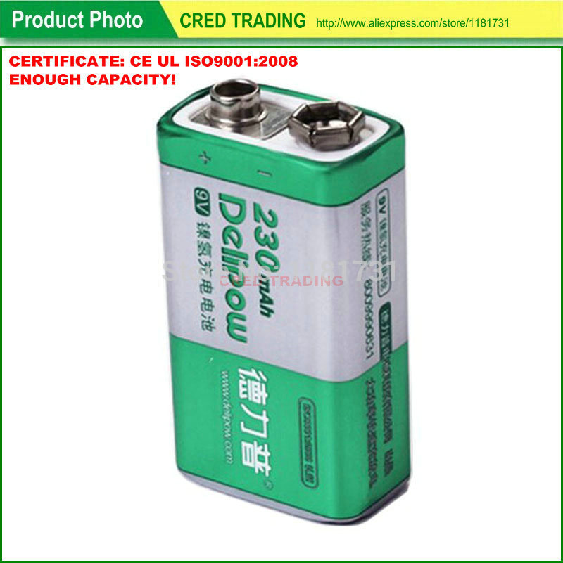 DLP-9 brand quality 9v battery rechargeable with ce ccc certificates(China (Mainland))