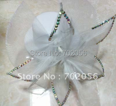 Fashion Veil Feather Stone Pin Up Fur Fascinator Hair Clip Top Hat Wedding Fascinator 40pcs Lot