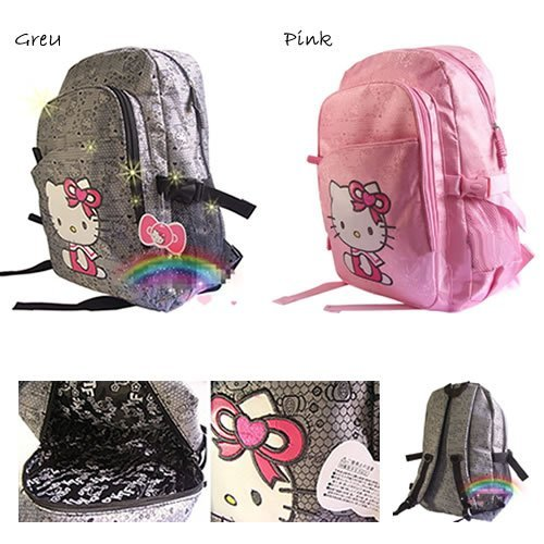 Free shipping 2015 Hot Sale Children School Bags Hello Kitty Cartoon Backpack Large Canvas Rucksack Outdoor Travel Bag Packsack