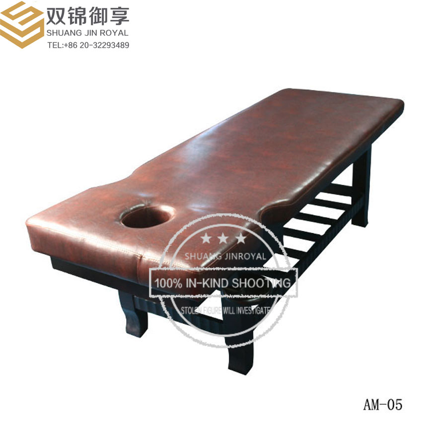 Factory Shop Salon Furniture Superior Xipi Comfortable Recliner Solid Wood Horse Physical Therapy Massage Bed(AM-05)(China (Mainland))